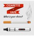 realistic cigarettes set vector image
