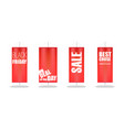 sale set of different red flags with design vector image