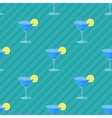 Seamless flat pattern with cocktail glasses vector image vector image