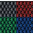 set dark sofa pattern background vector image