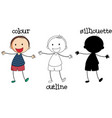 set different boy graphic vector image vector image