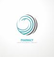 Snake logo design template vector image