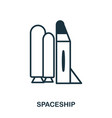 spaceship icon flat style icon design ui vector image vector image