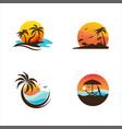 summer beach icon design vector image