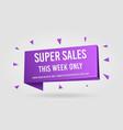 super sales promotion banner tag vector image vector image