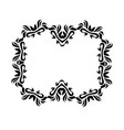 vintage black floral design ornamental vector image