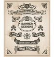 Vintage hand drawn design elements - banner set vector image vector image