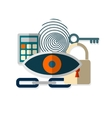 Web security concept icon vector image vector image