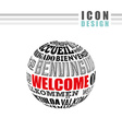 welcome icon design vector image