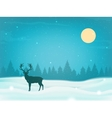 Winter landscape background with winter tree and vector image vector image