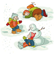 Winter vector image vector image