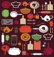 Cute kitchen pattern vector image