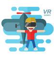 virtual reality games flat vector image