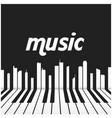 music piano keys background image vector image