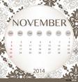 2014 calendar vintage calendar template for vector image vector image