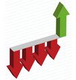 arrows diagram vector image