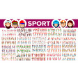 athlete set man woman group of sports vector image vector image