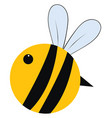 big fat bee on white background vector image vector image