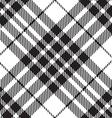 Blackberry tartan diagonal seamless black and vector image vector image