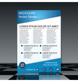 Booklet template vector image vector image
