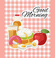 breakfast brunch banner concept vector image