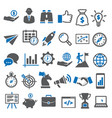 business icons set icons for management vector image