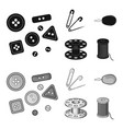 buttons pins coil and threadsewing or tailoring vector image