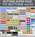 buttons super pack 3 vector image vector image