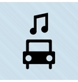 car and musical note design vector image