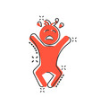 cartoon crying baby icon in comic style anger vector image vector image