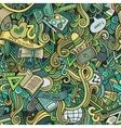 Cartoon cute doodles School seamless pattern vector image vector image