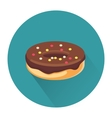 Cartoon dessert cake icon vector image