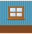Cartoon Wooden window Home Interior vector image
