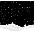 christas snow hills vector image vector image
