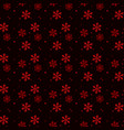 christmas seamless pattern of red snowflakes on vector image vector image