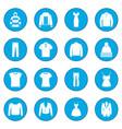 clothes icon blue vector image vector image