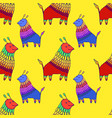colorful fantasy animal character seamless pattern vector image