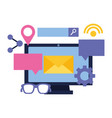 computer email speech bubble search internet vector image