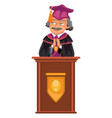 congrats graduation class colorful fat poster vector image vector image