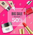 cosmetic big sale banner banner card vector image vector image