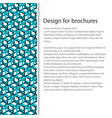 cover design with seamless pattern vector image vector image