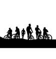 cyclists group 04 vector image vector image