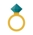 diamond ring - wedding or engagement vector image vector image