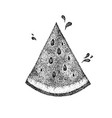 dotwork watermelon slice vector image