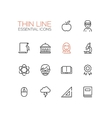Education - Thin Single Line Icons Set vector image