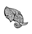 elephant mandala mascot vector image