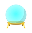Empty glass ball cartoon icon vector image vector image