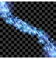 Energy flow on transparent background light effect vector image vector image