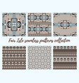 fair isle brown beige blue white seamless pattern vector image vector image