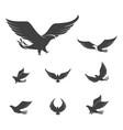 falcon wing icon template vector image vector image